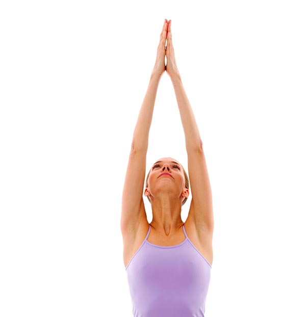 yoga upward salute