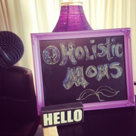 holistic moms black board in the green diva studio