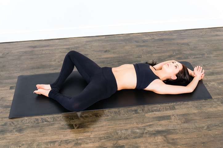 Yoga Series - Reclining Bound Angle Pose