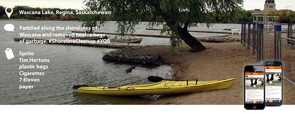 Litter Wascana Lake