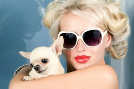 blonde with doggie