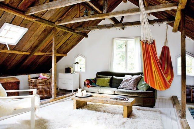 Above: A hammock ... - 9 Indoor Hammocks That Will Make You Want To Nap Care2 Healthy