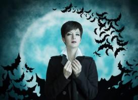vampire woman and bats