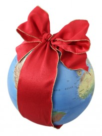 Earth in REd ribbon
