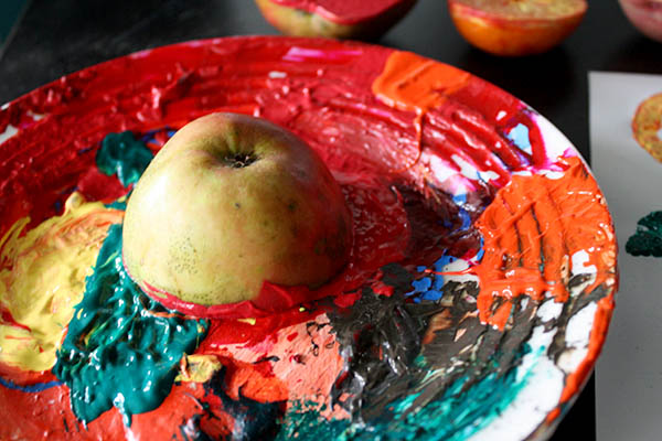 Fall Crafts for Kids Fruit and Veg Stamping