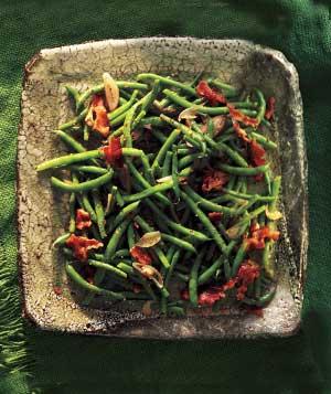 Green beans with bacon vinaigrette