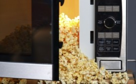 Microwave popcorn is loaded with chemicals.
