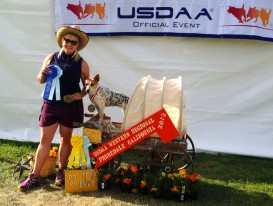 Aryn celebrating with Crush at USDAA Western Regional