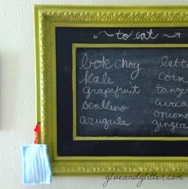 Make a Kitchen Chalkboard for Less than $25