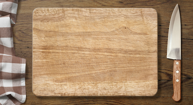 Kitchen tip: Use hydrogen peroxide to clean your cutting boards.