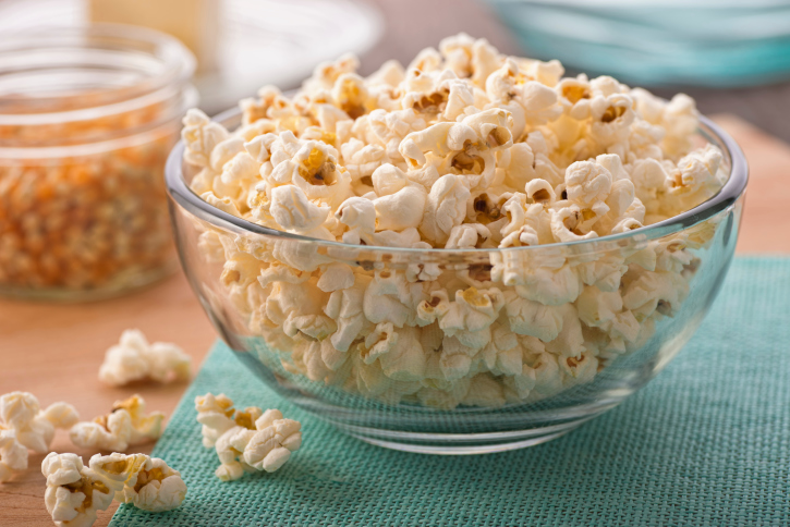Air-popped popcorn is one of the best healthy nighttime snacks you can eat.