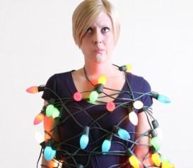 christmas lights holiday waste