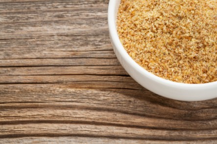 bowl of flax seeds as an egg replacement