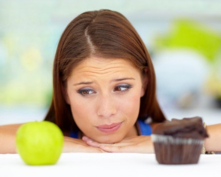 Both fruit and chocolate muffin have simple sugars  but in different quantities and with different other nutrients.