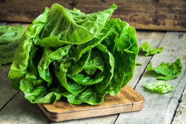 ripe organic green salad Romano