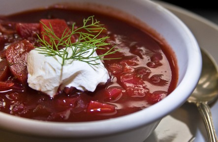 Borsch With A Difference - a variation on  Ukrainian borsch. Photo by MUffet at flicker