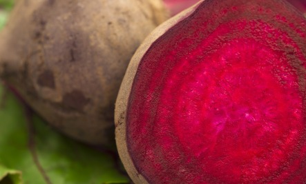 It's the red color in beets that helps with inflammation.