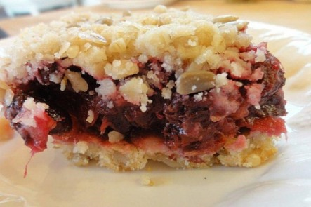 Cranberry Bars With Ginger:  Yes it's as good as it sounds!