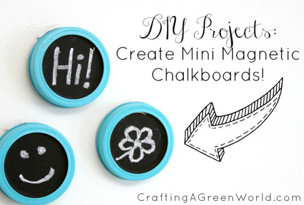 Guess what these miniature magnetic chalkboards are made from!