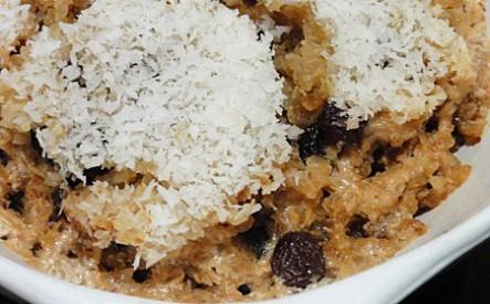 Coconut Quinua Almond Porrage - it's like having dessert for breakfast