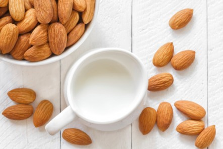 Making your own almond milk is easy and fast.