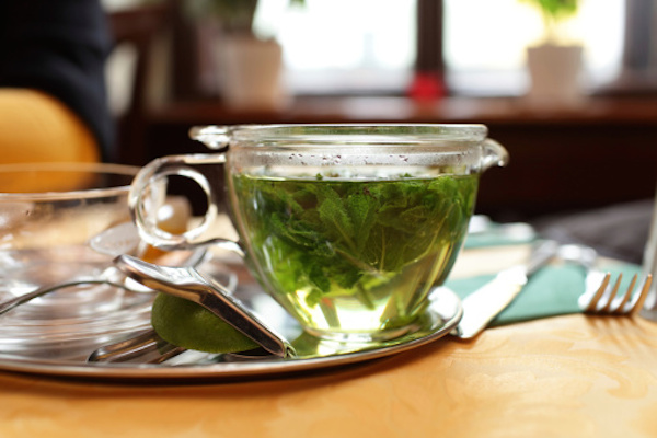Instead of a 4 o'clock latte, reach for an herbal tea. Peppermint tea can wake you up without adding caffeine in your system.