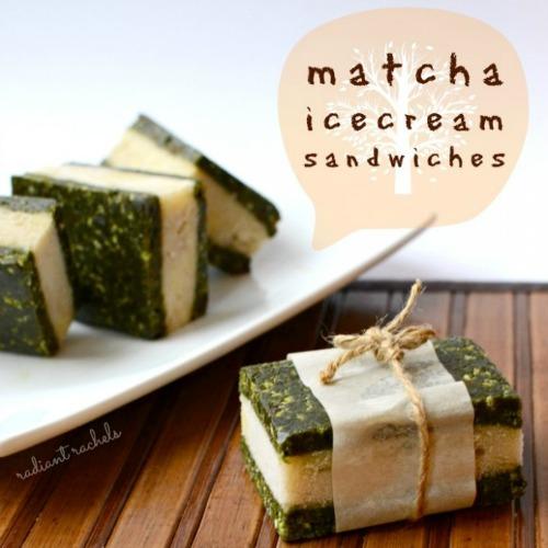 Matcha-Ice-Cream Sandwiches