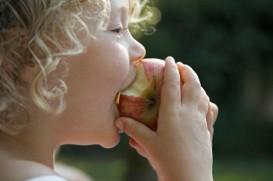 biting apple