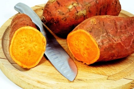 The sweet potato doesn't look like it would be so healthy – but it is!