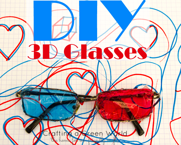 Kid Science Experiments: Kid-Made 3D Glasses
