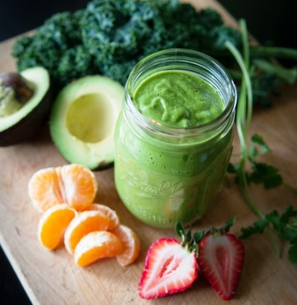 Mandarin Orange Green Smoothie