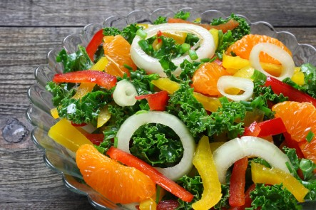Mandarin Orange with Kale and Veg Salad