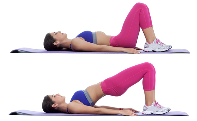 Bilderesultat for glute bridge exercise