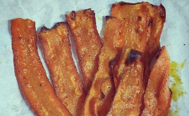 Vegan Bacon Made From Carrots
