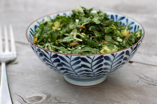 Kale Salad with Avocado Coconut Dressing