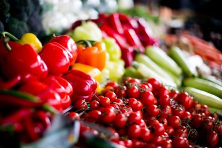 veggies in summer market