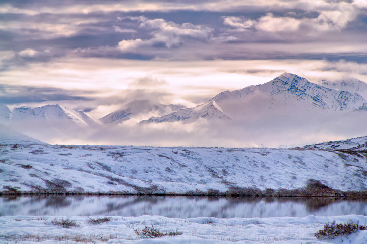 Cloudy mountains in ANWR
