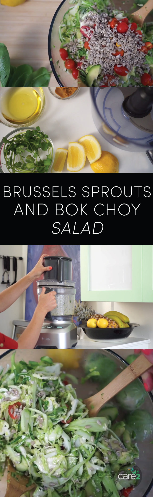 Brussels Sprouts and Bok Choy Salad
