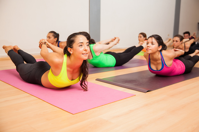 Locust Pose is a great posture corrector if you're experiencing neck pain. It engages your upper back, and strengthening those muscles takes some of the burden off of your neck.