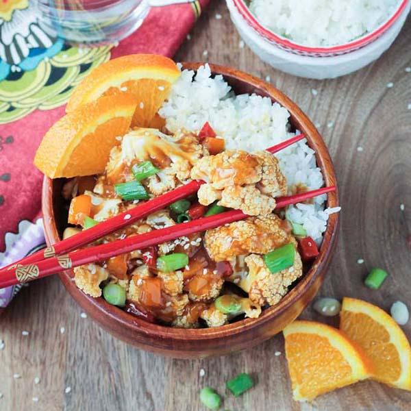 Orange Cauliflower from Veggie Inspired