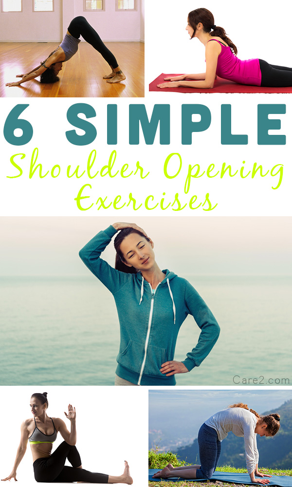 Tense shoulders are no fun, and neither are the headaches that they can cause. These simple shoulder opening exercises help stretch out those tight shoulders to give you some relief.
