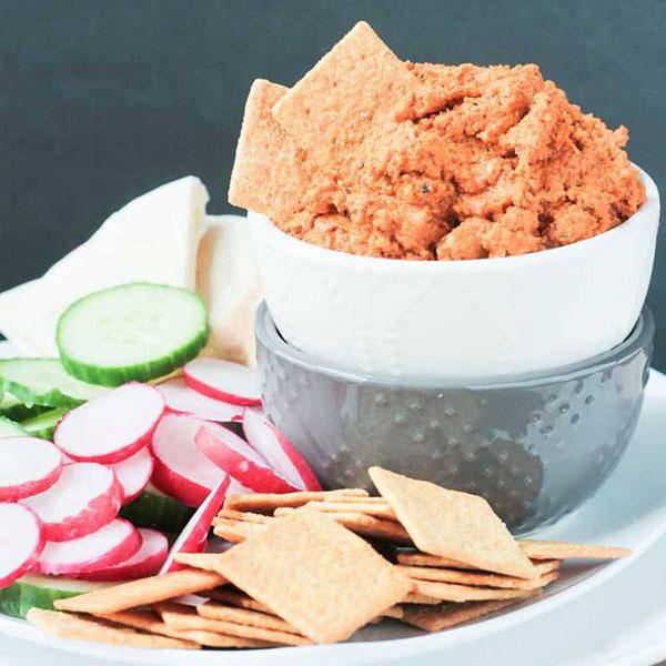 Roasted Carrot White Bean Hummus from Veggie Inspired Journey
