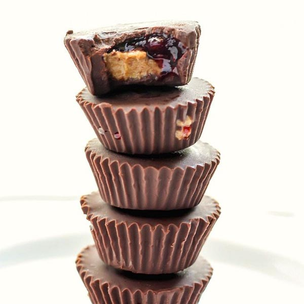 Almond Butter and Jelly Cups from The Big Man's World