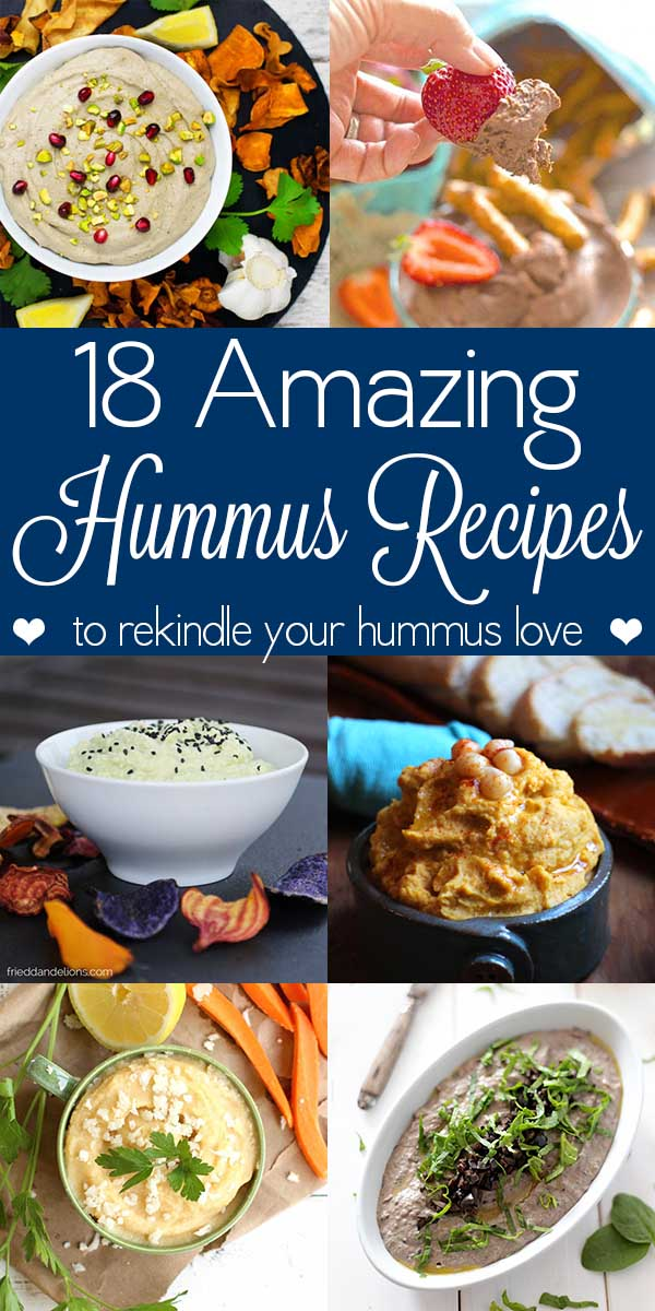Have you had it with hummus? Try these fun spins on the traditional chickpeas-lemon-oil-garlic combo. Let the hummus Renaissance begin!
