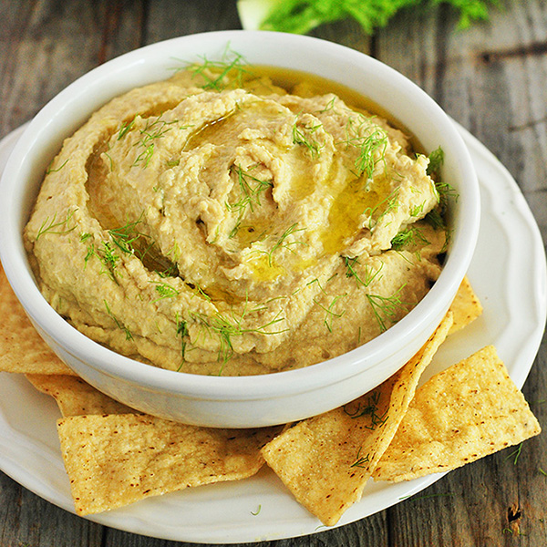 Roasted Fennel Hummus from Healthier Steps