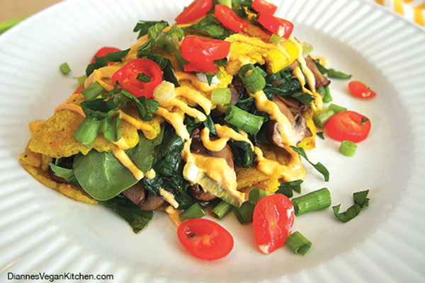 Vegan Chickpea Omelet by Dianne Wenz