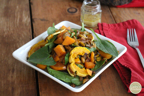 Delicata Squash and Persimmon Salad from Cadrys Kitchen