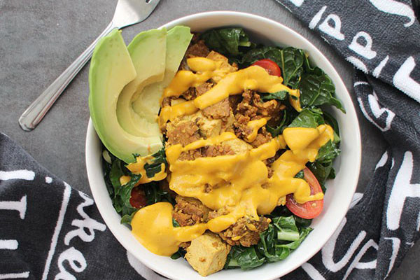 Vegan Breakfast Kale Salad by Becky Striepe