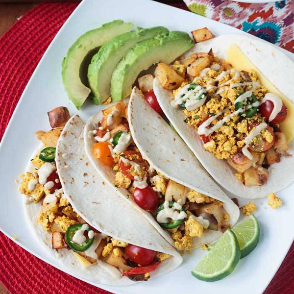 Breakfast Potato Tacos from Veggie Inspired Journey