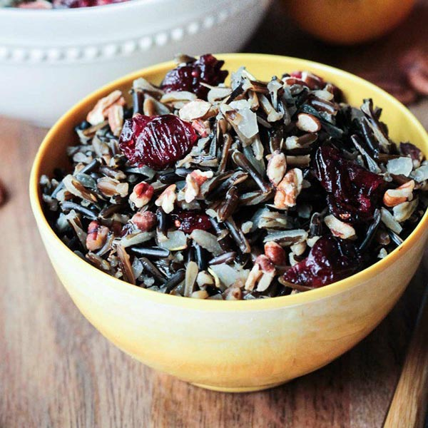 Cranberry Pecan Wild Rice Salad from Veggie Inspired Journey